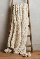 Anthropologie Hand-Knit Sweater Throw Blanket