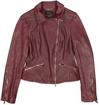 Karen Millen Burgundy Leather Leather jackets