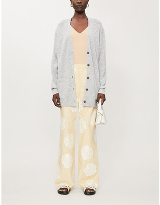 Acne Studios Button-through stretch-knit cardigan