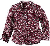Osh Kosh Floral Popover Poplin Top