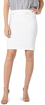 Liverpool Los Angeles Liverpool Denim Pull-On Skirt in Bright White