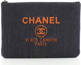 Chanel Deauville Pouch Denim Medium