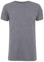 Eclipse Men's Gilson Zip Sleeve Longline T-Shirt - Grey Marl