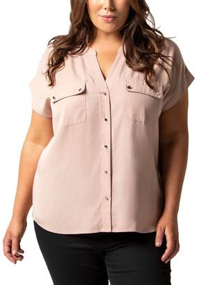 Forever New Curve Sasha Curve Short Sleeve Utility Shirt