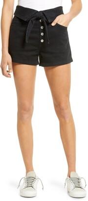 Le Jean Lola High Waist Button Fly Denim Shorts