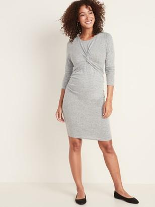 Old Navy Maternity Plush-Knit Twist-Front Bodycon Dress