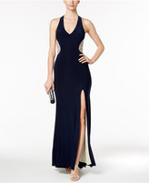 Xscape Evenings Illusion Beaded-Back Gown