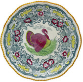 One Kings Lane Vintage Antique English Turkey Plate - Rose Victoria - multi