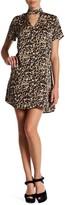 Trixxi Gigi Leopard Satin Mini Dress
