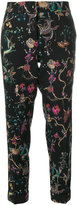 Etro embroidered cropped trousers