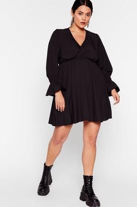Nasty Gal Womens Sleeve It All Before Plus Mini Dress - Black - 16