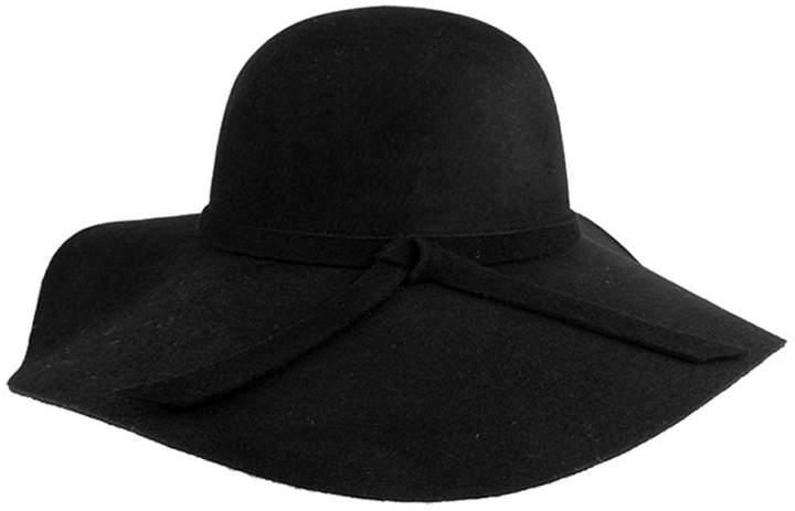 eeb84aab43d3 FUNOC Fashion Vintage Women Ladies Floppy Wide Brim Wool Felt Fedora Hat Cap