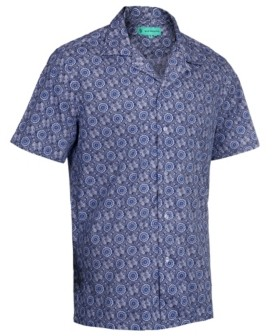 Mio Marino Men's Hawaiian Print Cotton Dress Shirts