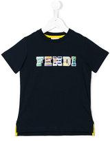 Fendi logo print T-shirt - kids - Cotton - 2 yrs