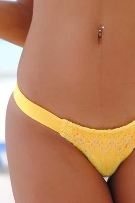 Vulcano Swimwear Yellow Crochet Bottom