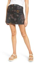 7 For All Mankind Women's Print Denim Miniskirt
