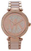 Michael Kors Parker Rose 3-Hand Stainless Steel Watch