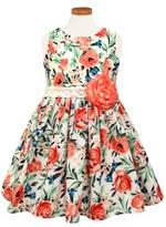 Sorbet Toddler Girl's Floral Print Sleeveless Dress