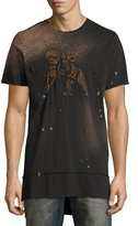 PRPS Embroidered Cherub Elongated T-Shirt, Black