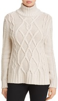 Max Mara Eden Cable Knit Wool Turtleneck Sweater