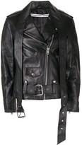Alexander Wang zipped biker jacket