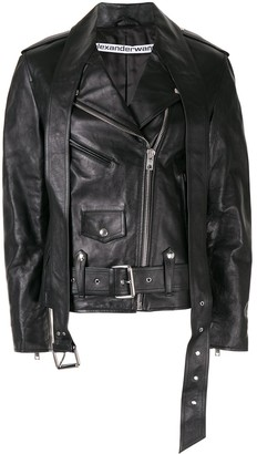 Alexander Wang zipped biker jacket