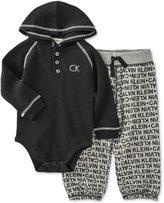 Calvin Klein Baby Boys' 2-Pc. Hooded Bodysuit & Pants Set