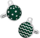 Cufflinks Inc. Men's Green Ornaments Cufflinks