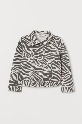 H&M Cotton Twill Jacket - White