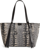 AllSaints Holston East West Leather Tote