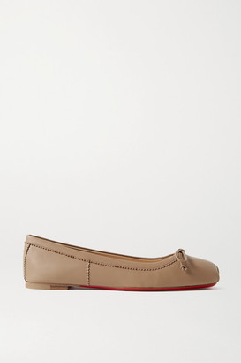Christian Louboutin Mamadrague Leather Ballet Flats - Mushroom