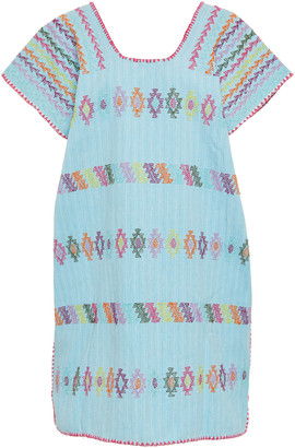 Pippa Embroidered Cotton Mini Dress