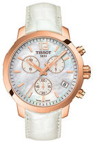 Tissot Quickster Rose Goldtone PVD Leather Strap Watch