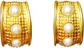 One Kings Lane Vintage KJL Long Gold & Pearl Earrings