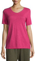 Eileen Fisher Hemp/Cotton Twist V-Neck Tee