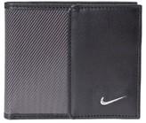 Nike Men's Leather & Tech Twill Money Clip Card Case - Black