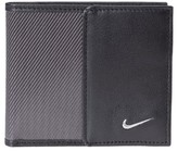 Nike Men's Leather & Tech Twill Money Clip Card Case - Grey