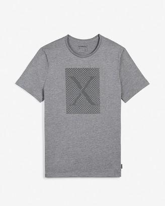 Express Gray Logo Pattern Graphic T-Shirt