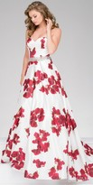 Jovani Strapless Floral Print Ball Gown