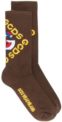 GCDS 3D ribbed knit socks