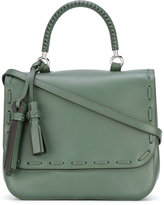 Max Mara flap shoulder bag - women - Cotton/Calf Leather - One Size