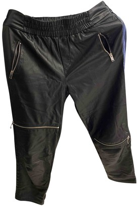 Zara Black Leather Trousers