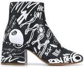 MM6 MAISON MARGIELA graffiti boots
