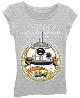 Freeze Heather Gray Star Wars: The Force Awakens BB-8 Tee - Girls