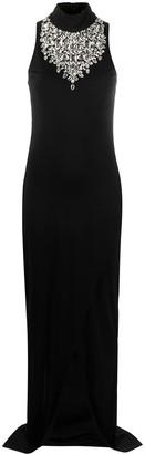 Balmain Crystal-Embellished Sleeveless Dress