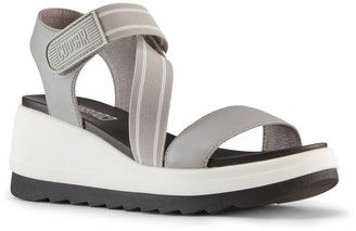 Cougar Leather Open-Toe Sandals - Hibiscus