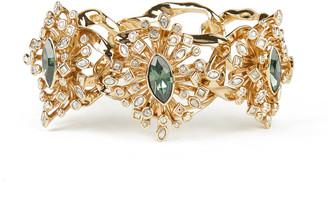 Alexis Bittar Navette Crystal Burst Link Hinge Bracelet