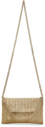 Stella McCartney Gold Woven Mini Fallabella Shoulder Bag