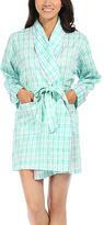 Malabar Bay Sea Kisses Aqua Organic Cotton Sateen Short Robe