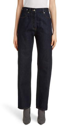 Dries Van Noten Pisco High Waist Straight Leg Jeans